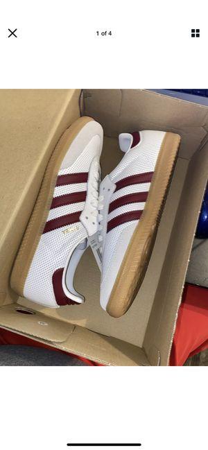 NWB Adidas Originals Men's Samba OG Sneakers Size 7.5 White Burgundy Red BD7528 for Sale in Upper Arlington, OH