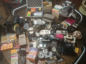 Huge LOT sale of vintage film cameras and paraphernalia for Sale in Gibsonia, PA