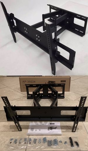New in box universal 32 to 65 inch swivel full motion tv television wall mount bracket 120lbs capacity includes hardware screws soporte de tv FREE HD for Sale in Covina, CA