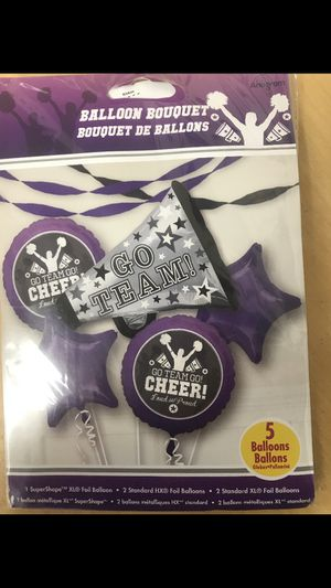 Cheerleading balloon bouquet purple for Sale in Waterbury, CT