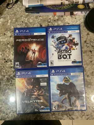 4 GAMES PS4 VR PlayStation VR for Sale in Homestead, FL
