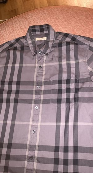 Grey and Black Burberry Shirt for Sale in Jersey Village, TX