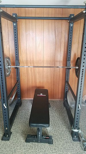 Power Rack, Bench, Weights, etc. for Sale in Sudley Springs, VA