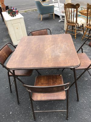 Foldable table and matching chairs for Sale in Payson, UT