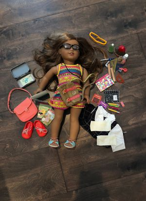 American girl doll, lea 2016 with school accessories and original clothes. for Sale in Tampa, FL