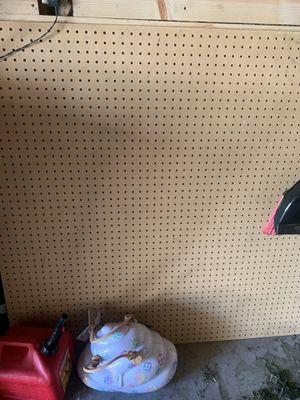 4ft by 4ft peg board 2 sheets for Sale in Wichita, KS