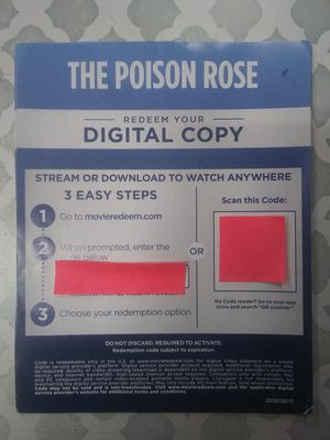 The poison rose digital movie for Sale in Bell Gardens, CA