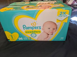 PAMPERS SIZE 1 diapers- unopened for Sale in Fort Myers, FL