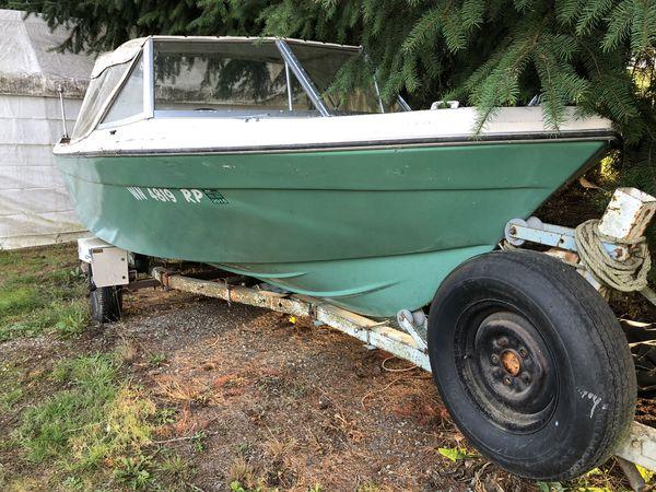 1972 Bayliner boat and trailer