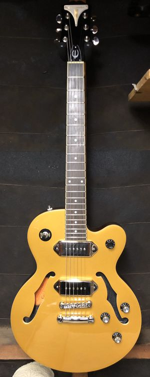 2016 Epiphone Gold Top Wildkat Simi Hollow Body Guitar With Hard Shell Case for Sale in La Habra, CA