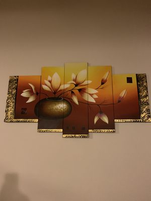 Frame picture with six pieces for living room or dining for Sale in Manassas, VA
