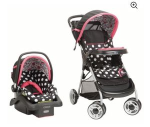 Disney Baby Lift & Stroll Plus Travel System Minnie Coral Flowers for Sale in Houston, TX