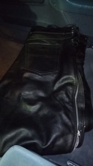 First classic size 38 leather motorcycle pants for Sale in Tacoma, WA