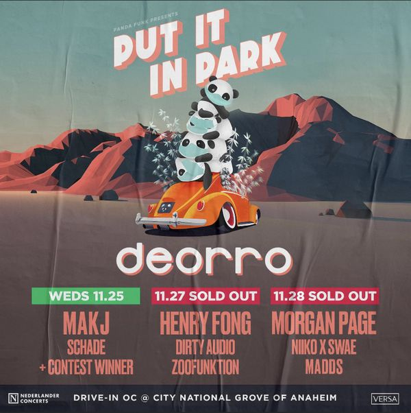 7 Passenger Ticket: Deorro 11/27 - SOLD OUT SHOW