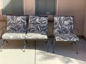 Outdoor iron furniture for Sale in North Las Vegas, NV