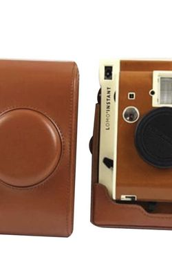 NEW Forusky Retro Leather Camera Case Bag with Strap for Lomography Lomo Instant Camera - Brown for Sale in Arlington,  TX