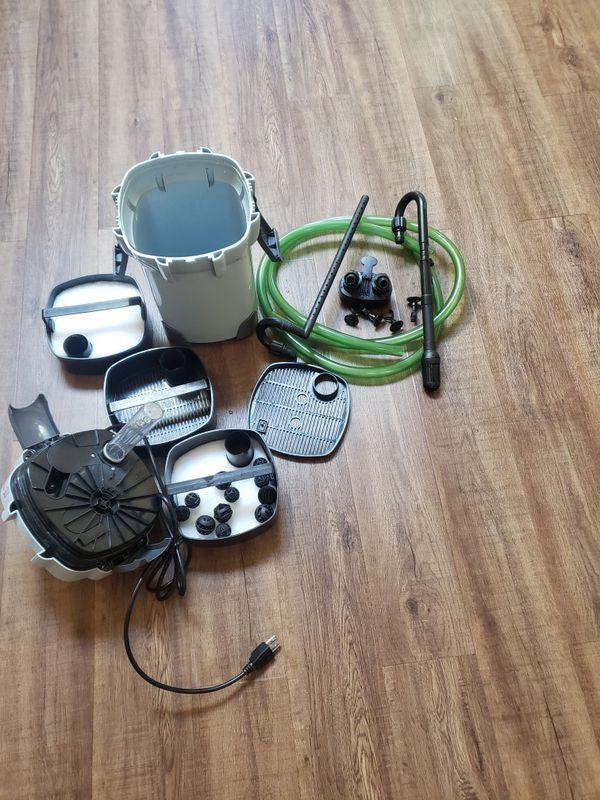 Aquarium canister filter uv light up 75 gallons