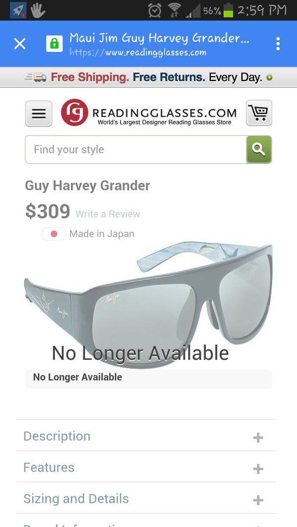aac25425a0a6 Maui Jim Guy Harvey Grander Limited Edition Mens Sunglasses for Sale ...