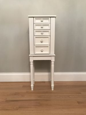 White and pink jewelry armoire for Sale in Appleton, WI