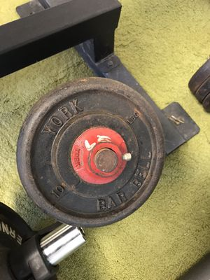 Two pair dumbbells 60 pound each York Weights for Sale in Lebanon, PA