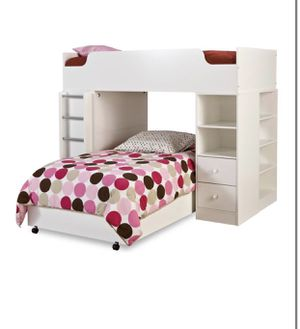 Loft bed bunk bed with desk and storage NEW for Sale in Taylor, MI