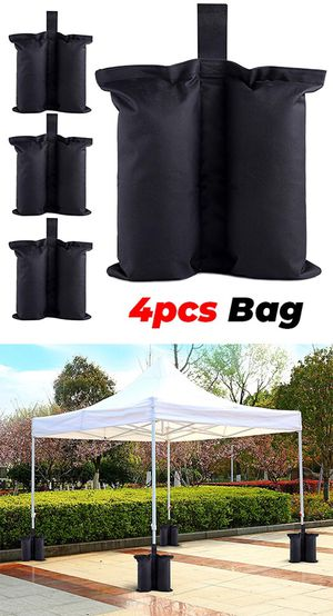 New $10 (Pack of 4) Canopy Weight Bags for EZ Pop Up Tents (Bag only, Sand and Tent not included) for Sale in Whittier, CA