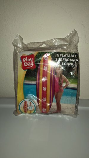 New Play Day Inflatable Surfboard Lounge Beach Pool Float Surf Board 6' for Sale in Irving, TX