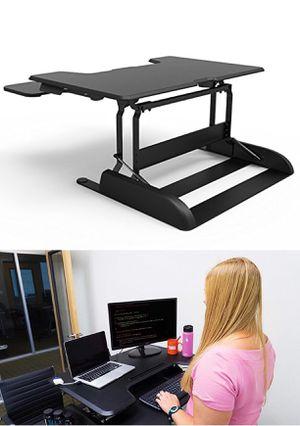 "New in box 36"" wide Logix Desk LDCX3604B Logix Desk height adjustable stand up standing improve posture desk desktop laptop Black or White color reta for Sale in Los Angeles, CA"