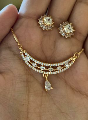 Diamond necklace and earrings for Sale in Phoenix, AZ