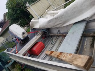 14 foot Hewes Craft aluminum boat with trailer for Sale in Everett,  WA