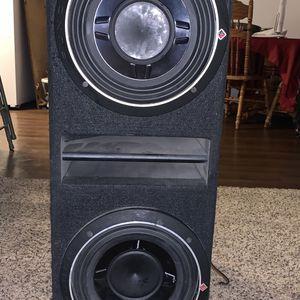 """Rockford Fosgate R1200-1D Prime 1,200 Watt Class-D Mono Amplifier & Rockford Fosgate 10"""" Punch Dual P1 for Sale in Porterville, CA"""