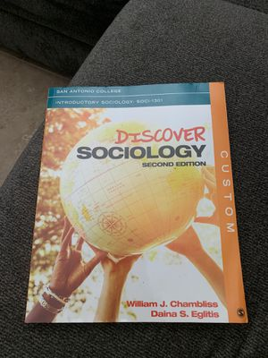 San Antonio College introductory to sociology 1301 discover sociology second edition william j chambliss daina s eglitis for Sale in San Antonio, TX