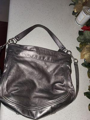 Silver coach purse for Sale in Garden Grove, CA