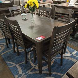 NEW, 7 PC DINING SET, GRAY, SKU#TC7812 for Sale in Santa Ana,  CA