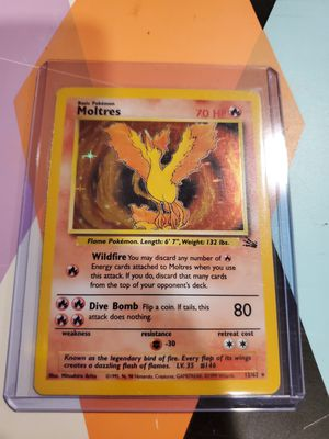 Pokemon card Moltres fossil holo mint condition for Sale in The Bronx, NY