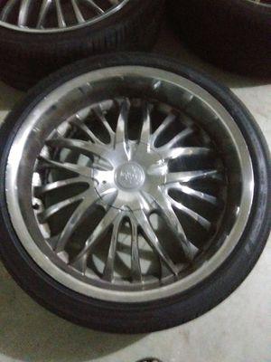 22s Rims & Tires- 5 lugs for Sale in Cedar Park, TX