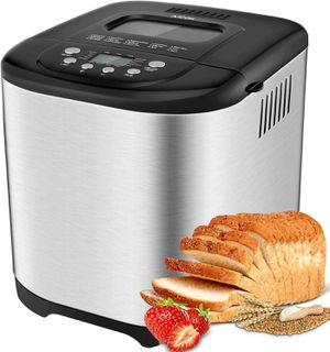 Aicok 2 LB Bread Maker, 15 Programs Bread Machine Including Gluten-Free Setting for Sale in Ontario, CA