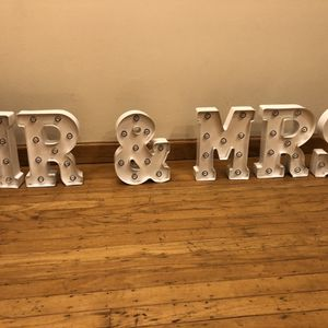 Mr & Mrs marquee sign for Sale in South San Francisco, CA