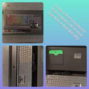 Razor Ornata Chroma Keyboard W/Magnetic Wrist Rest for Sale in Glendale, AZ