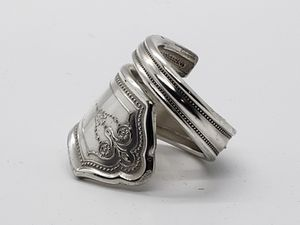Handmade Silverplate Silverware Spiral Ring for Sale in Conway, AR