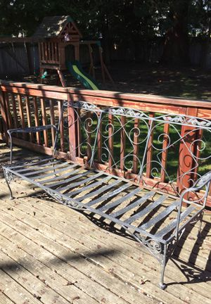 Wrought iron patio furniture bench for Sale in Ruston, WA