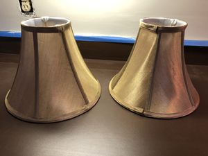 2 Gold Colored Lamp Shades for Sale in Woburn, MA