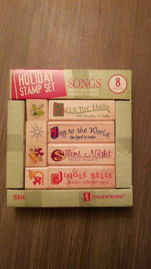 Inkadinkadoo Holiday Rubber Stamp Set for Sale in Ridgewood, NJ