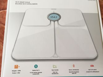 Fitbit Aria 2 Smart Scale (opened, brand new, tested, never used) for Sale in Alexandria,  VA