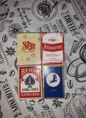 Playing Cards lot of 4 assorted decks for Sale in Davenport, FL