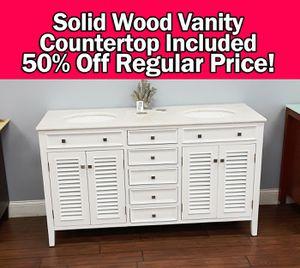 """60"""" bathroom vanity countertop INCLUDED for Sale in Coral Springs, FL"""