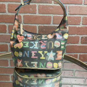 Dooney & Bourke black scribble hobo bag for Sale in Seminole, FL