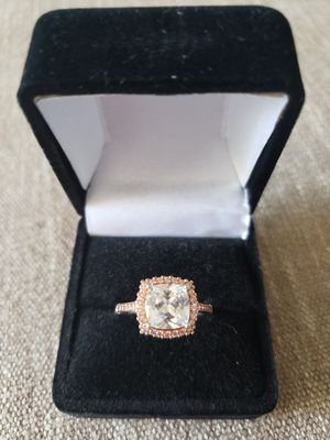 Rose Gold Cubic Zirconia PAJ Sterling silver ring for Sale in Wheat Ridge, CO