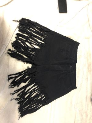 Black XXL Fringe Shorts for Sale in Fort Worth, TX