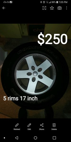 17 inch jeep rims 5 rims for Sale in Manchester, CT